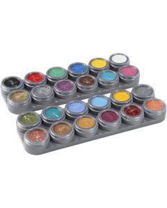Grimas Ansiktsmaling - Sminkepalett, ass. farger, 24x2,5 ml/ 1 stk.
