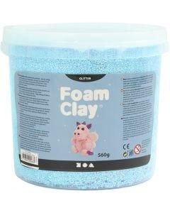 Foam Clay® , glitter, lys blå, 560 g/ 1 spann