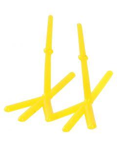 Kyllingføtter, H: 28 mm, L: 37 mm, gul, 50 stk./ 1 pk.