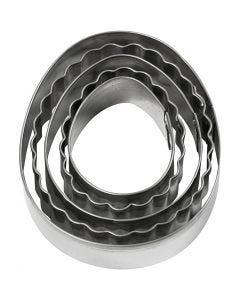 Utstikksformer, egg, str. 8 cm, 5 stk./ 1 pk.