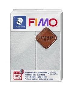 FIMO® Lær effekt, dove grey (809), 57 g/ 1 pk.