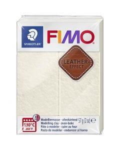 FIMO® Lær effekt, Ivory (029), 57 g/ 1 pk.