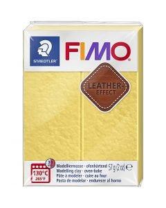 FIMO® Lær effekt, saffran yellow (109), 57 g/ 1 pk.