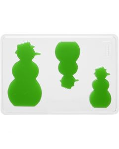 Støpeform, snømann, H: 6+8+10 cm, dybde 9 mm, str. 14,9x22 cm, 1 stk.