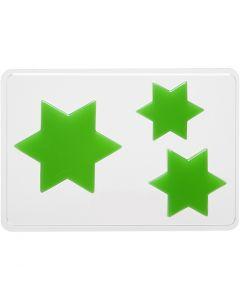 Støpeform, stjerne, H: 6+8+10 cm, dybde 9 mm, str. 14,9x22 cm, 1 stk.