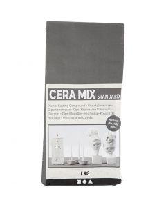 Cera-Mix Standard modellgips, lys grå, 1 kg