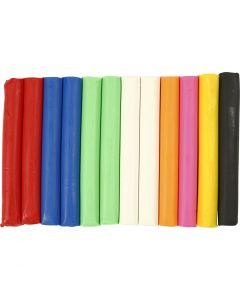 Soft Clay Modellervoks, ass. farger, 200 g/ 1 pk.