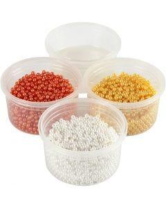 Pearl Clay® , orange, hvit, gul, 1 sett