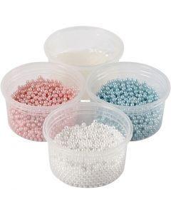 Pearl Clay® , lys blå, lys rød, råhvit, 1 sett, 3x25+38 g