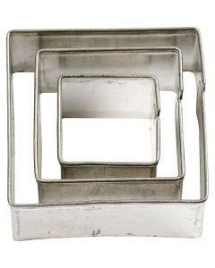 Stikkformer, firkant, str. 20+30+40 mm, 3 stk./ 1 pk.