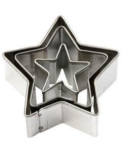 Stikkformer, stjerne, str. 40x40 mm, 3 stk./ 1 pk.