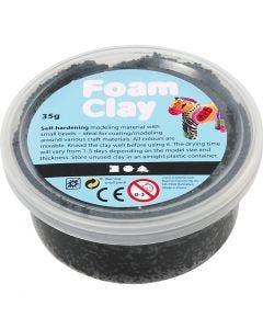 Foam Clay® , svart, 35 g/ 1 boks