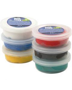 Silk Clay®, standardfarger, 6x14 g/ 1 pk.
