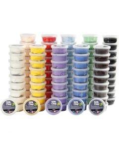 Silk Clay®, ass. farger, 10x10 boks/ 1 pk.