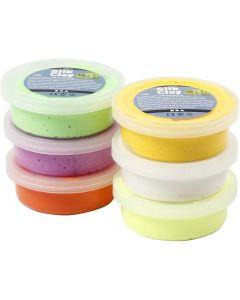 Silk Clay®, vårfärger, 6x14 g/ 1 pk.
