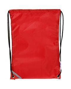 Ryggsekk, str. 31x44 cm, rød, 1 stk.