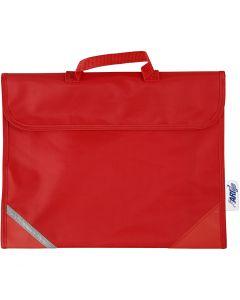 Skoleveske, str. 36x29 cm, rød, 1 stk.