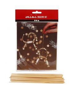 Kreativ minikit, julebukk av halm, H: 7 cm, 1 stk./ 1 sett