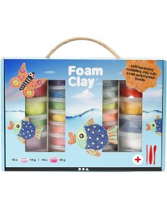 Foam Clay® gaveeske , ass. farger, 1 sett