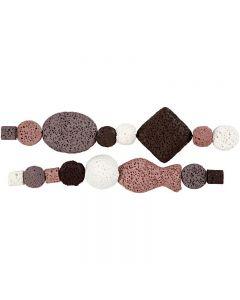Luksus Perleharmoni, dia. 6-37 mm, hullstr. 2 mm, gml. rosa (25), 1 sett