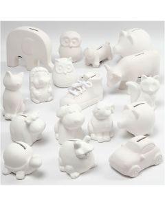 Sparebøsser, hvit, 106 stk./ 1 kasse