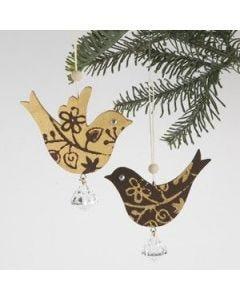 Trefugler med stempeltrykk