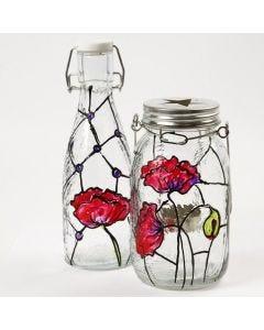 Lysglass med Tiffanydeko