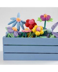 Altankasse med blomster av Silk Clay og Foam Clay