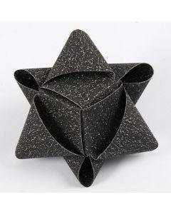 Kubeformet stjerne av glitrende stjernestrimler fra Vivi Gade