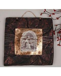 Art metall maling, blad metall, limfolie og sølv/gull spray