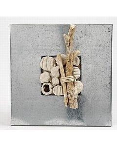 Strandikon laget i zinkramme