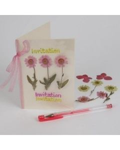 Laminert blomsterkort