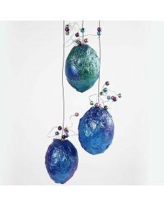 Metallicegg med perler
