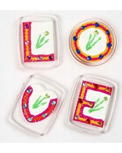 Badges med rhinsten til kjøleskapet