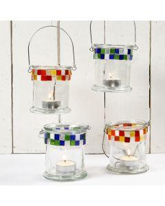 Glasslanterner med mosaikk