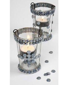 Lysglass med mosaikk