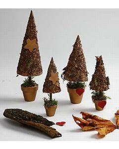Rustikke juletrær