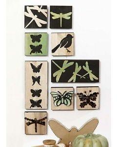 Grønne ikoner med 3D mosaikk
