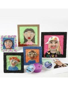 Selvportretter med Silk Clay