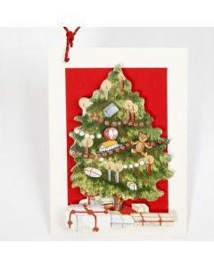 3D kort med juletre