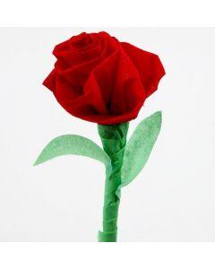 Rose av kreppapir