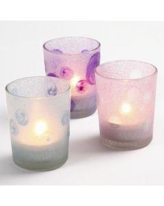 Lysglass med Glas Frost