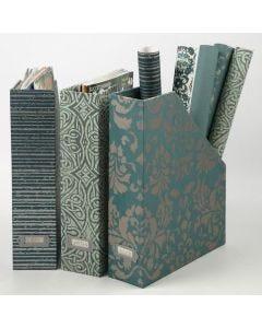 Tidsskriftholder med håndlaget papir