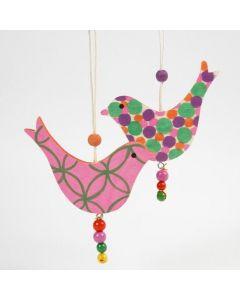 Trefugler dekorert med Poster Hobby Marker