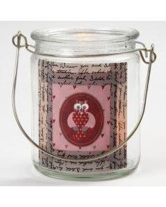 Lysglass med mønstertape