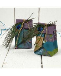 Liten brettepose av håndlaget papir