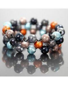 Elastikkarmbånd med fashionmix perler