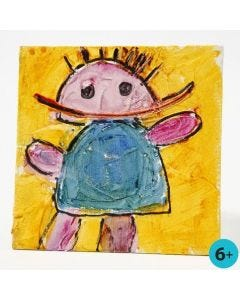 Bilde på maleplate med strukturpasta