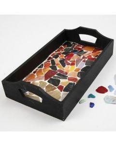Trebrett med mosaikk