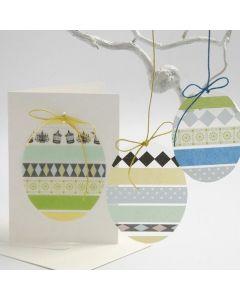 Egg av hardfolie med mønstertape